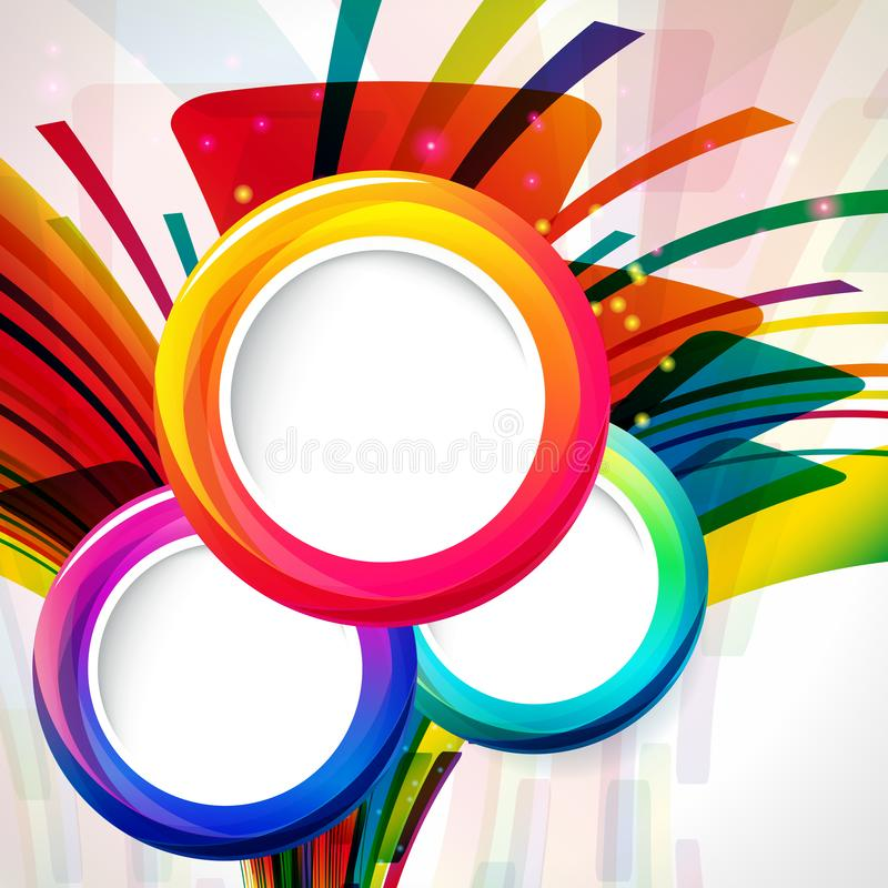 Abstract background with round frames. Vector illustration vector illustration