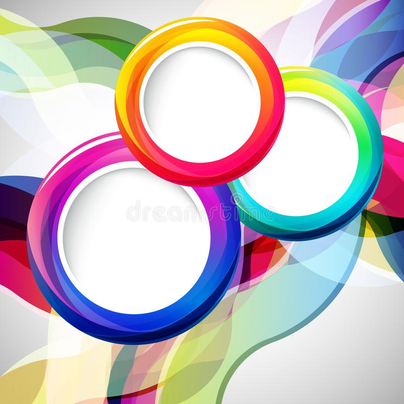 Abstract background with round frames. Vector illustration royalty free illustration