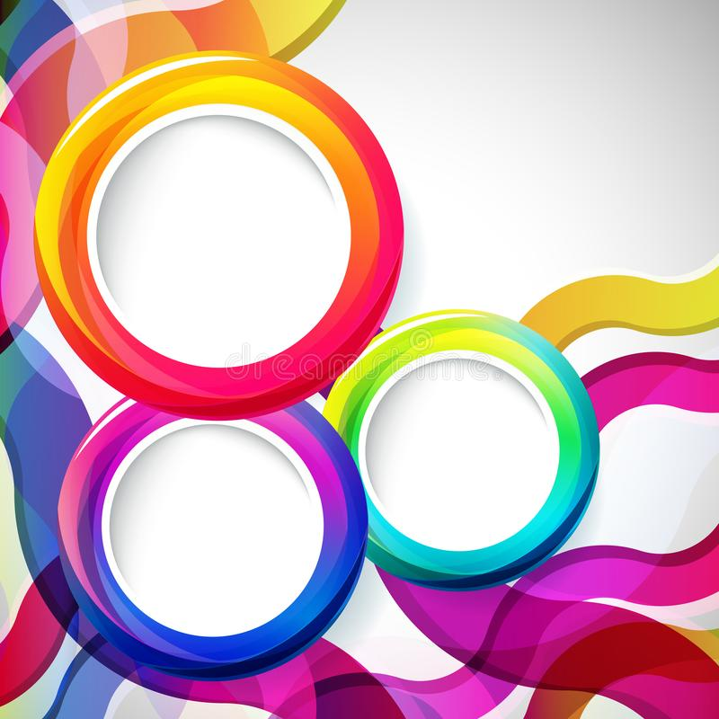 Abstract background with round frames. Vector royalty free illustration