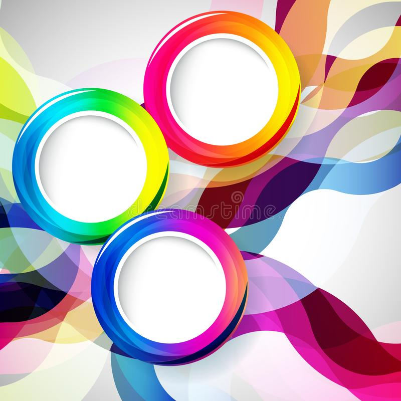 Abstract background with round frames. Vector illustration stock illustration