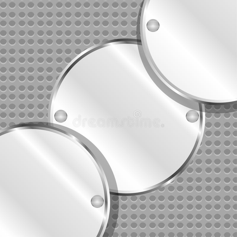 Abstract Background With Round Metal Plates Stock Image