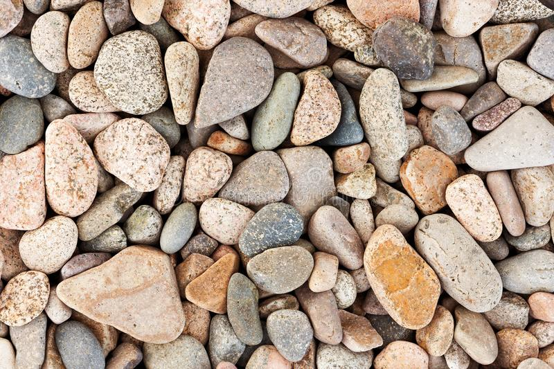 Abstract background with round pebble stones royalty free stock photography