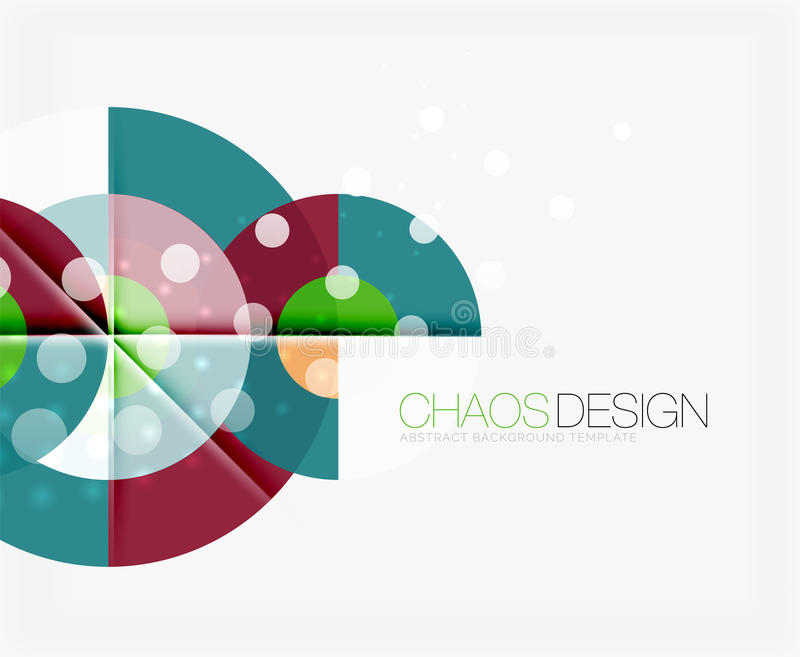 Abstract background with round shapes vector illustration