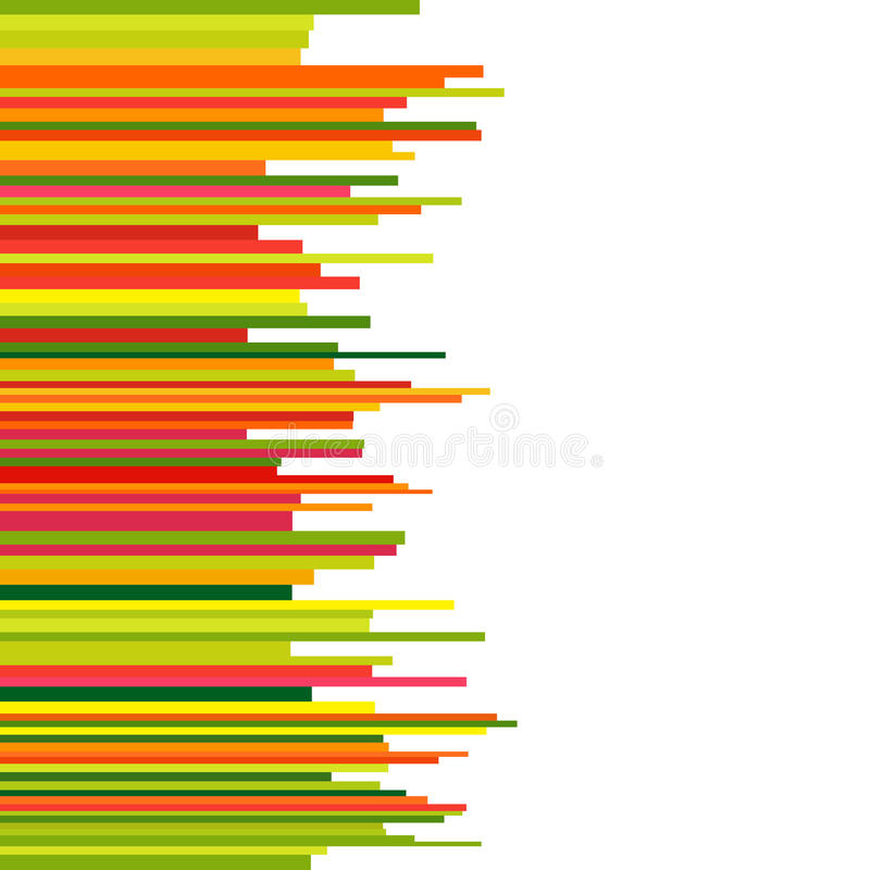 Abstract Background with Seamless Row Colorful Lines. stock illustration