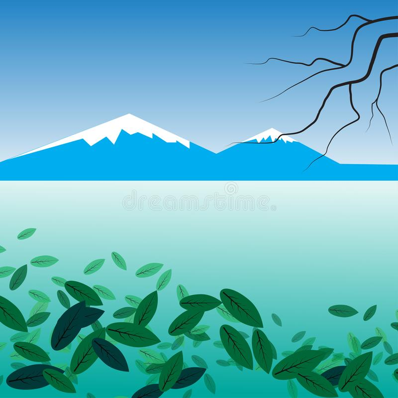 Abstract background of seascape stock illustration