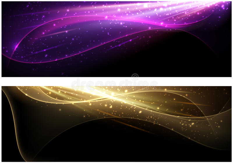 Abstract background set. With colour waves pattern. Vector illustration vector illustration