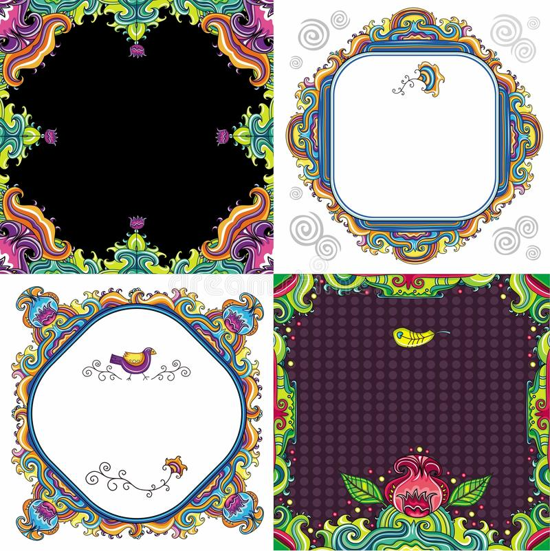 Download Abstract Background Set  ( Floral Series) Stock Vector - Image: 15354557