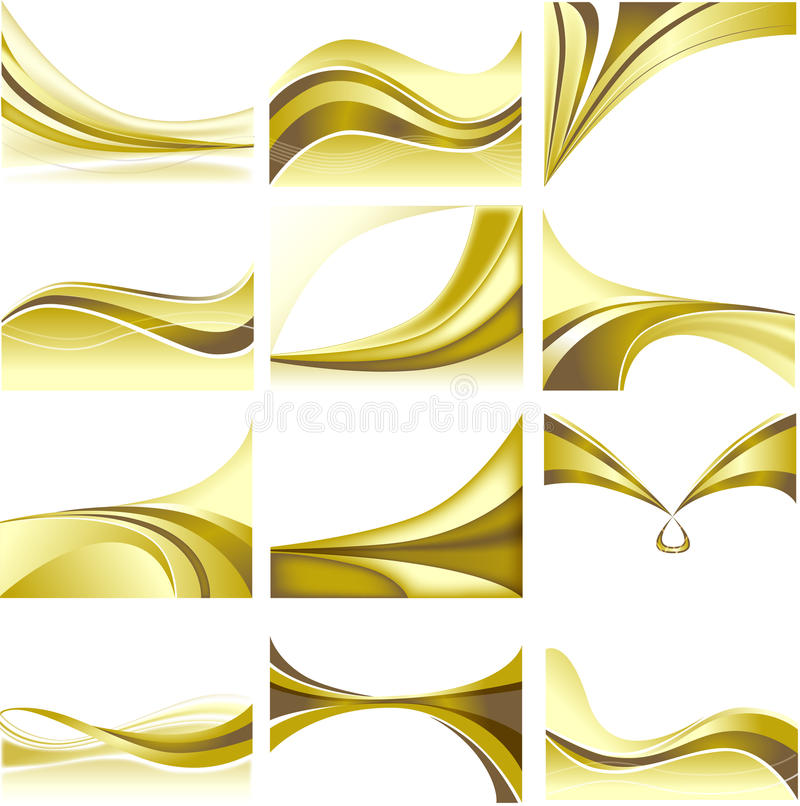 Download Abstract Background Set Golden Theme Blank White B Royalty Free Stock Photo - Image: 25510595