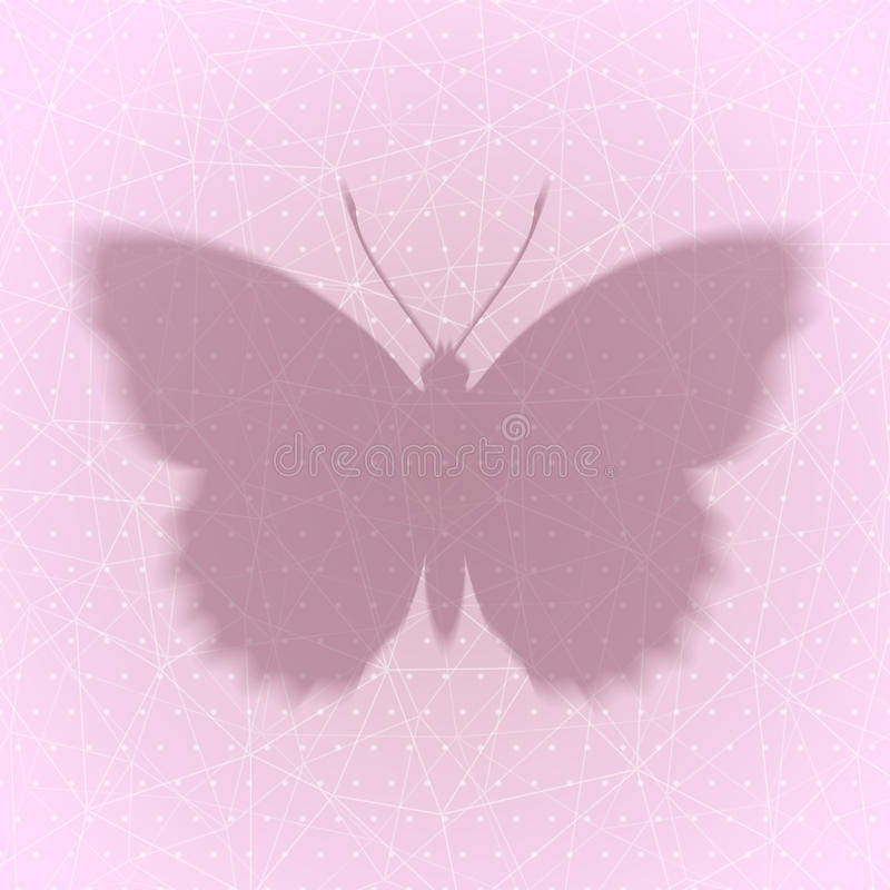 Abstract background with shadow of the butterfly eps10. Abstract polka dots and lines background with shadow of the butterfly eps10 stock illustration