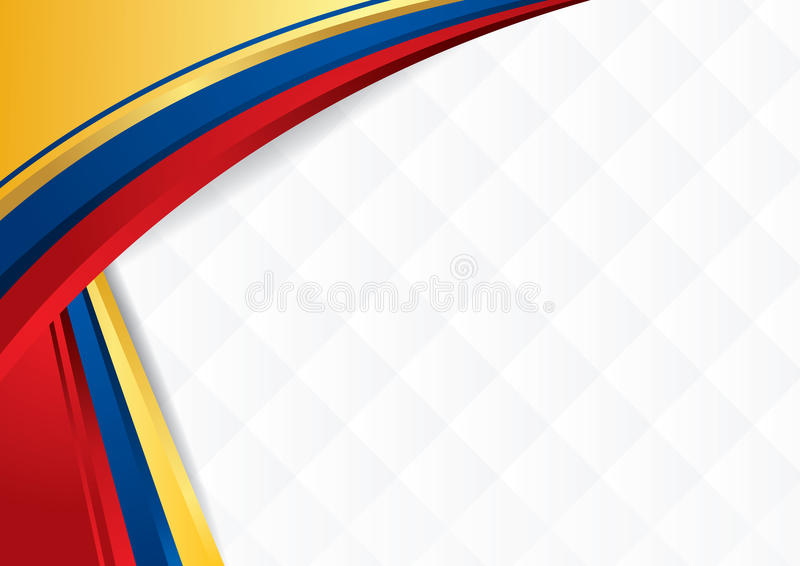 Abstract background with shapes with the colors of the flag of Ecuador, Colombia and Venezuela royalty free stock photos