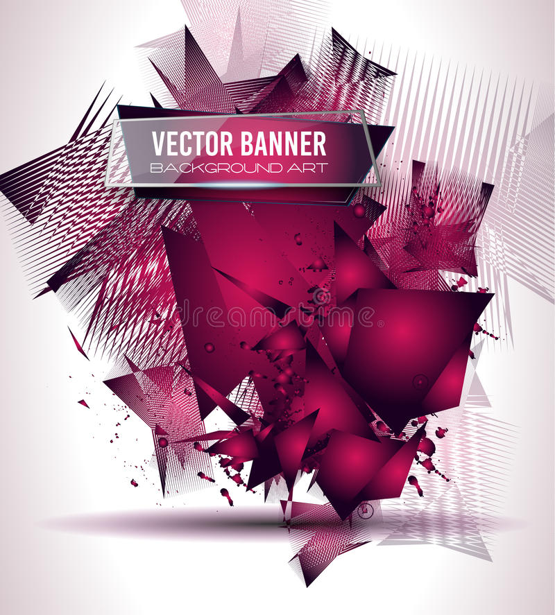 Abstract Background with Shapes Explosion For Cover. Flyers template, Brochure Layouts, Material, Business Cards, Magazine Page Patterns vector illustration