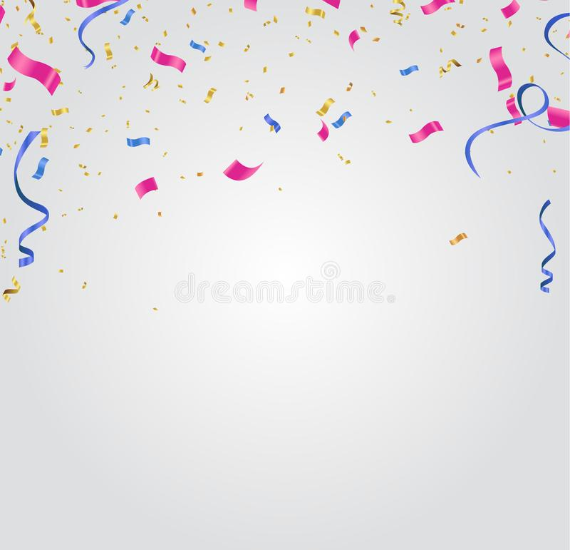 Abstract Background with Shining Colorful Balloons. Birthday, Party, Presentation, Sale, Anniversary and Club Design vector illustration