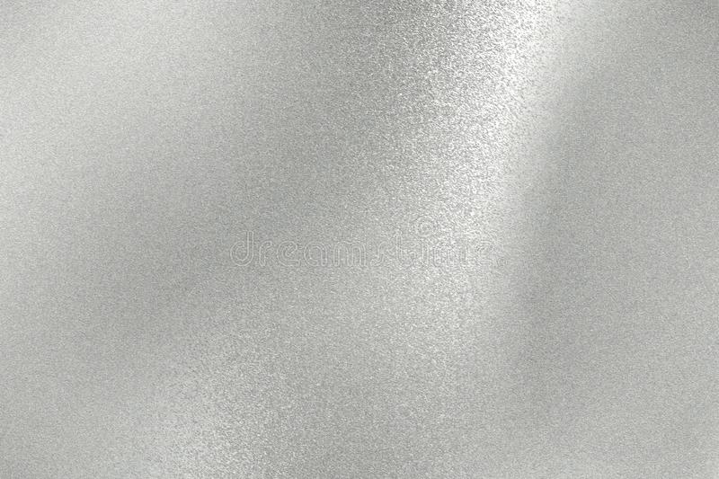 Abstract background, shiny silver metal plate texture stock image