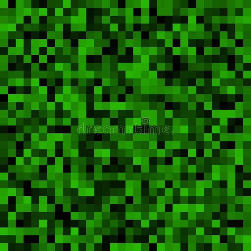 Dark Pixelated Mosaic Background For Your Design Stock