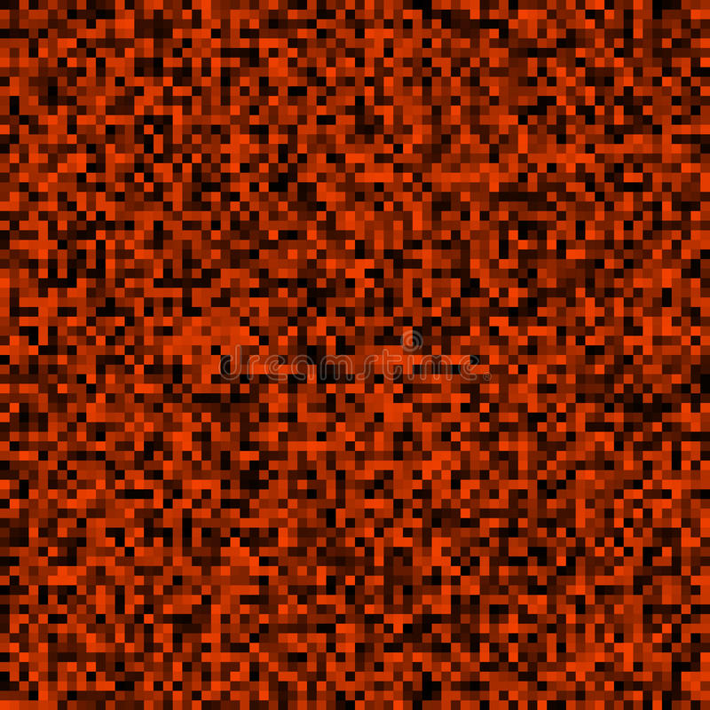 Abstract background of small pixels. Pixel texture for your projects. The dark red color of the lava and fire. Vector illustration. EPS 10 royalty free illustration