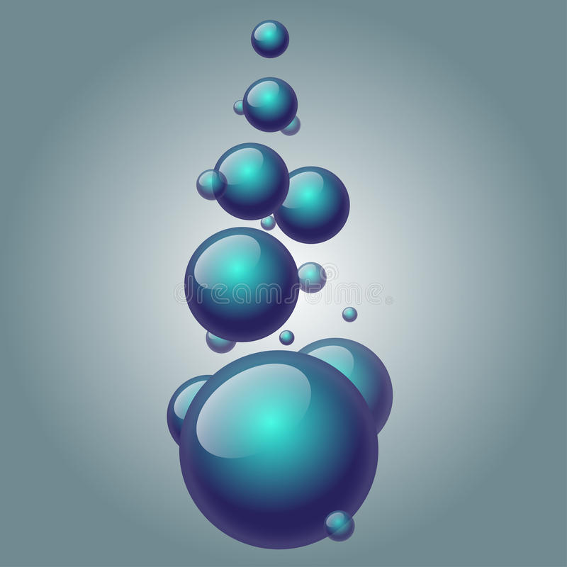 Abstract background with soap bubbles. Water drops. royalty free illustration