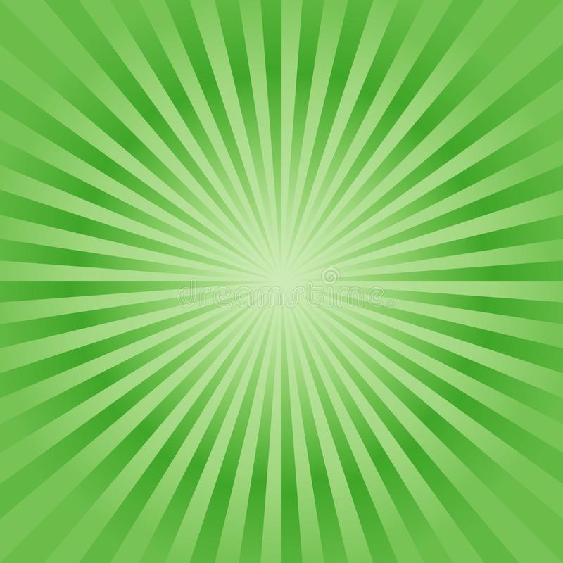 Abstract background. Soft Bright Green rays background. Vector stock illustration