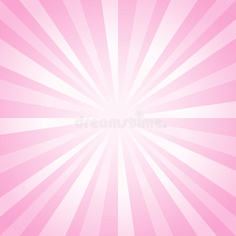 Abstract background. Soft Pink rays background. Vector EPS 10 cmyk stock illustration