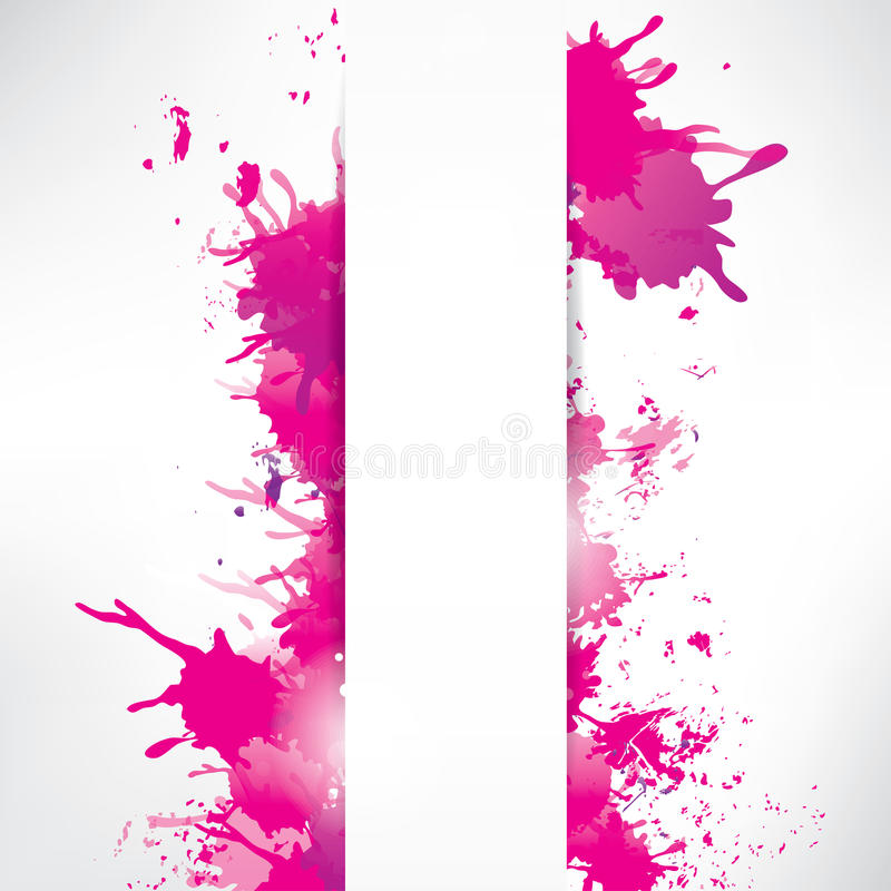 Abstract background with splash vector illustration