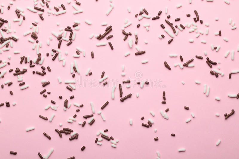 Abstract background with sprinkles stock photography