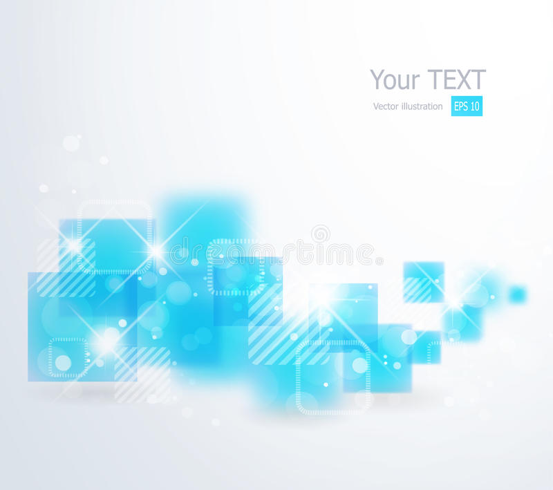 Abstract background with square shapes royalty free illustration