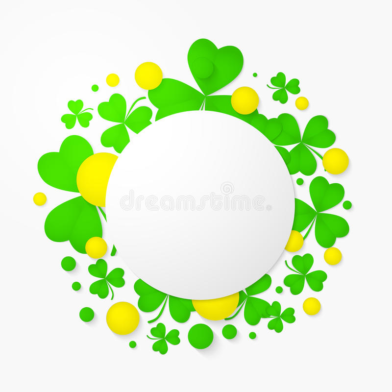 Abstract Background For St. Patrick\'s Day Party Poster. Stock ...
