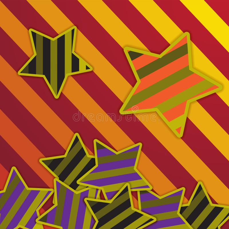 Abstract background star stripes vibrant color. Design for a paper tissue banners. Vector image. Eps 10 stock illustration