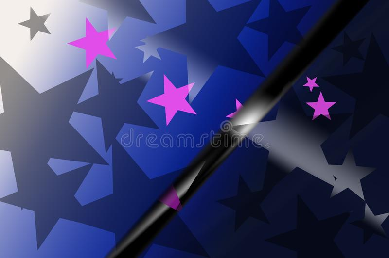Abstract background of stars in dark royalty free stock photography