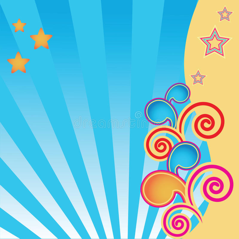 Abstract Background With Stars And Swirls Stock Images