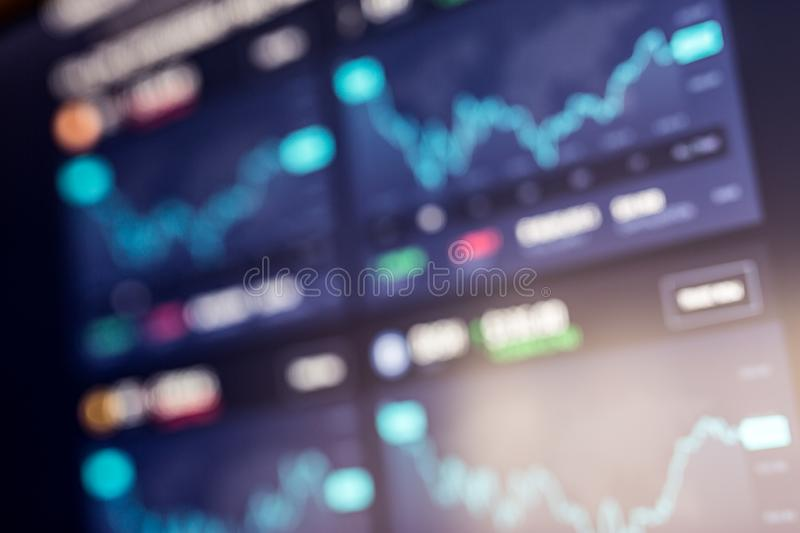 Abstract background of stock market, graph and money movement, sell, buy candlestick royalty free stock images