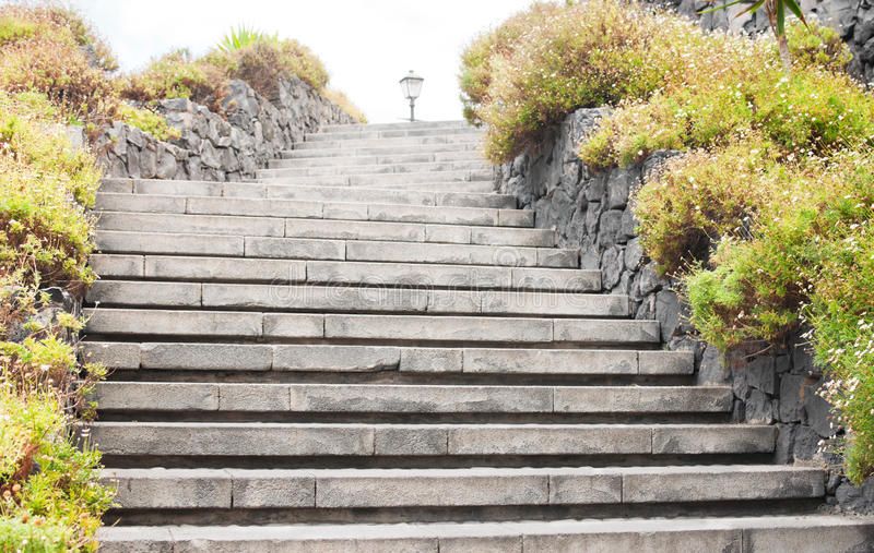 Abstract background with stone stairs stock image