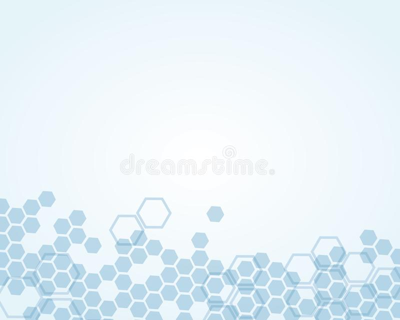 Abstract background substance and molecules stock illustration