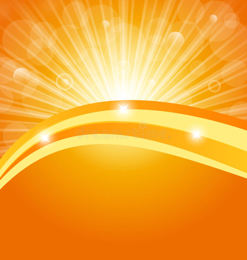 Abstract Background With Sun Light Rays Royalty Free Stock Images