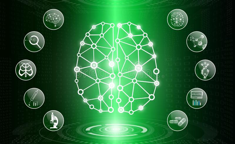Abstract background technology concept in green light,human body heal stock images
