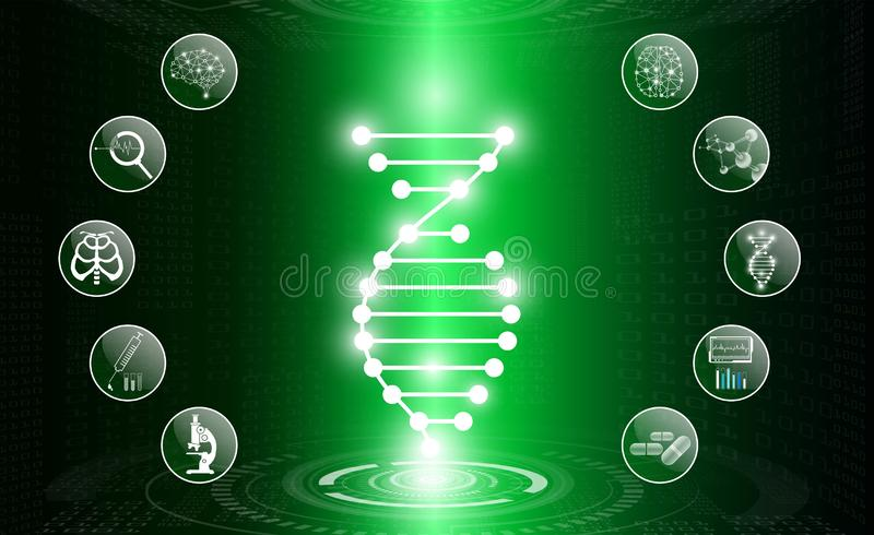 Abstract background technology concept in green light,human body heal stock photo