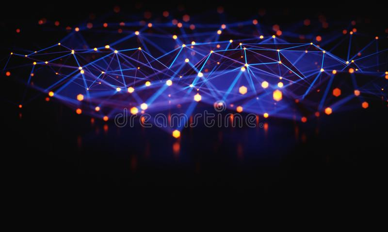 Abstract Background Technology Connection royalty free illustration