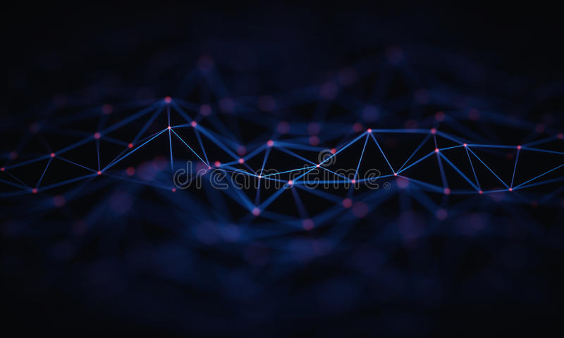 Abstract Background Technology Connection stock illustration