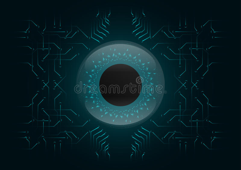 Abstract background; Technology Cyber security concept royalty free illustration