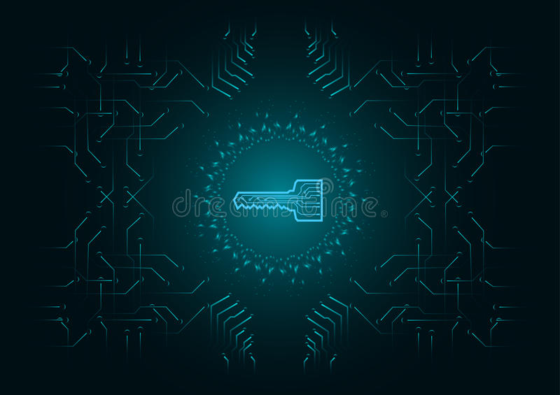Abstract background; Technology Cyber security concept vector illustration