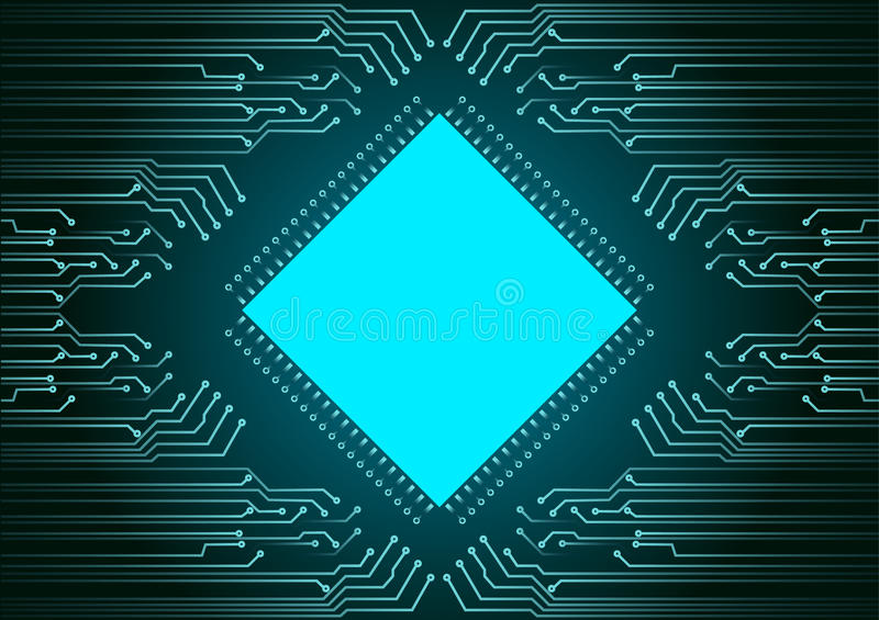 Abstract background; Technology Cyber security concept.  stock illustration