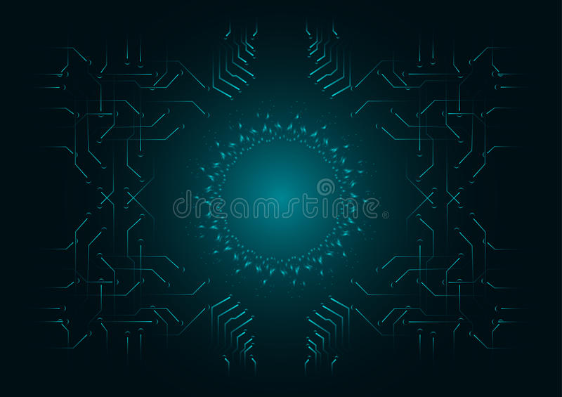 Abstract background; Technology Cyber security concept stock illustration