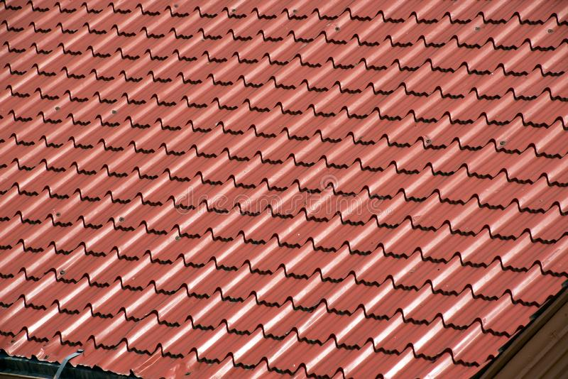 Abstract background texture, architectural details,brown ceramic roof tiles. stock images