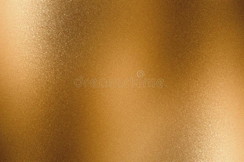 Abstract background, texture bronze metallic sheet wave.  stock photography