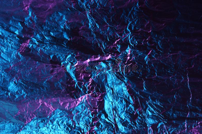 Abstract background metal aluminum foil blue and purple pink color royalty free stock image