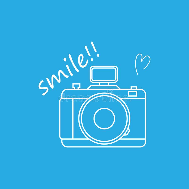 Abstract background for thin line icons white camera,smile,heart,vector illustrations 皇族释放例证