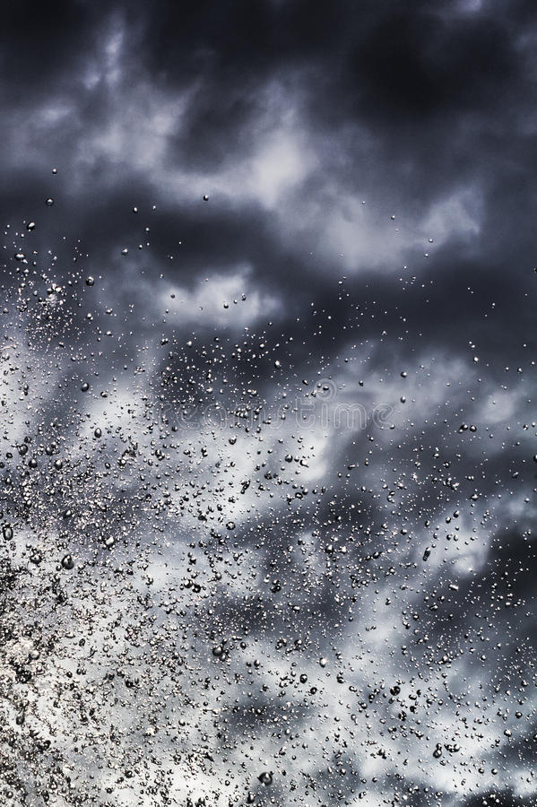 Abstract background of thunderclouds royalty free stock images