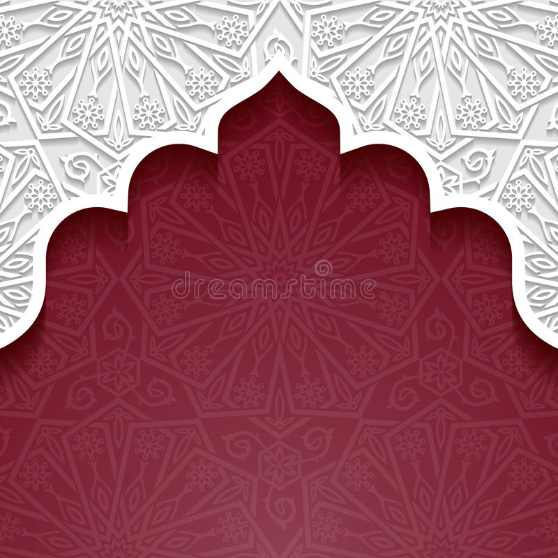 Abstract background with traditional ornament vector illustration