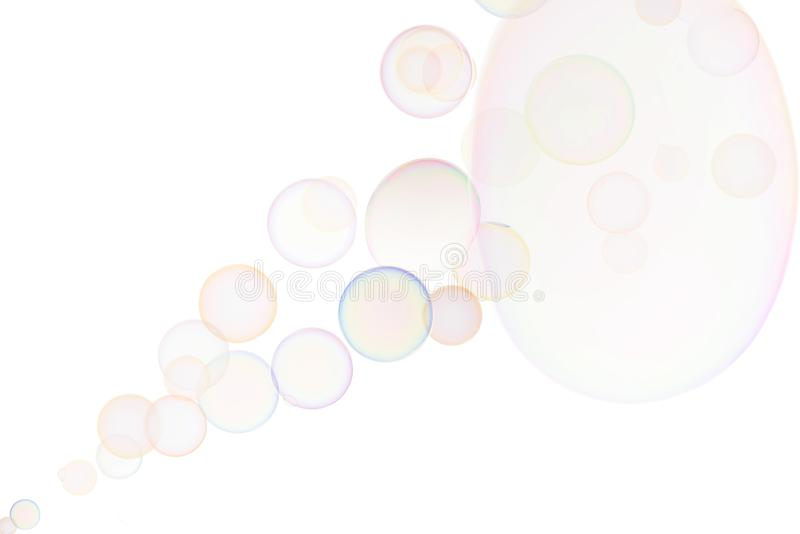 Transparent soap bubbles stock images