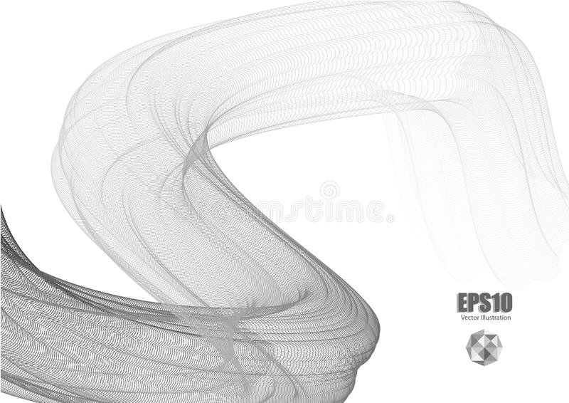 Abstract background with transparent wave lines. Vector illustration royalty free illustration