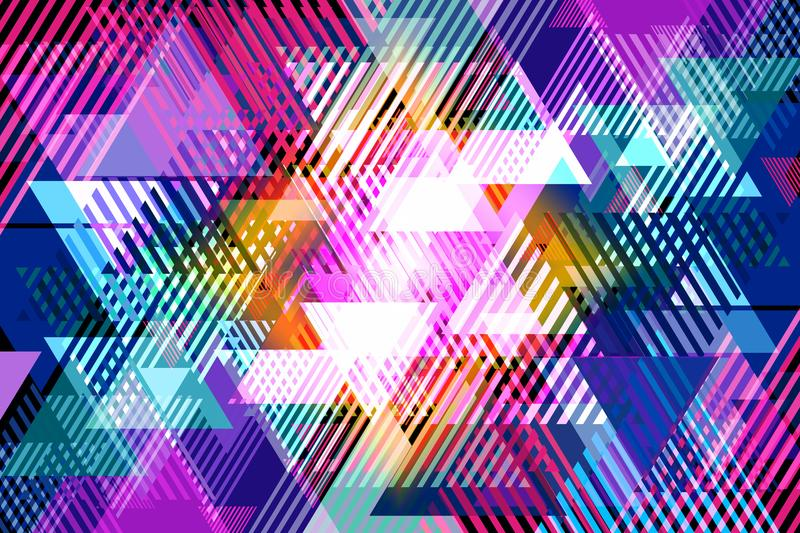 Abstract background of triangles of various sizes and colors. royalty free stock photos